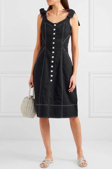 efbb6af2e35 Ulla Johnson - Emory bow-detailed denim dress