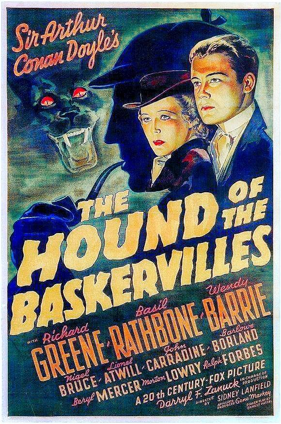 Poster reproduction. The Hound of the Baskervilles Vintage  Movie advert
