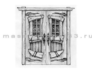 Мебель на заказ в Москве из сосны,дуба:Дверь 2-х створчатая