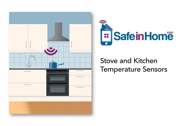 The Stove and Kitchen Temperature Sensors help detect if the stove top burners have been left on unattended.