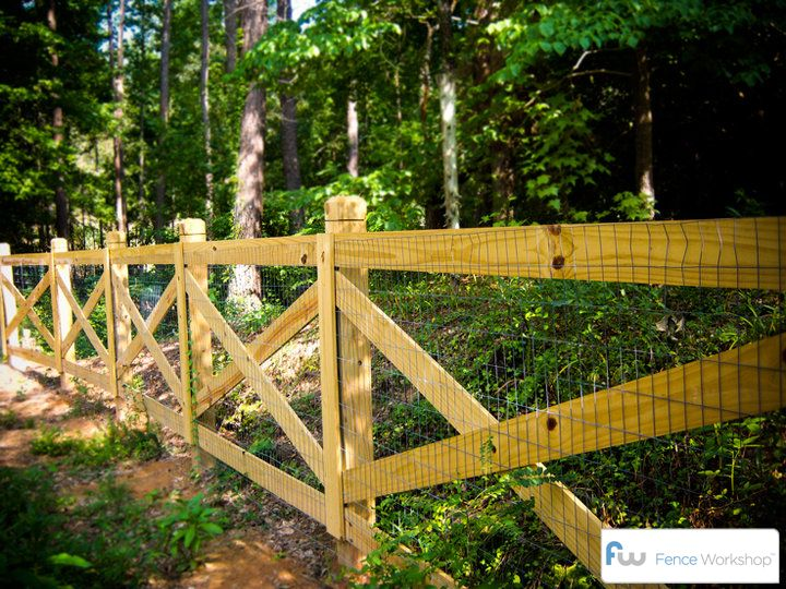 pinned from:  Farm Landscape Design Ideas | Fence Workshop™ | Residential & Commercial Fence Installation ...