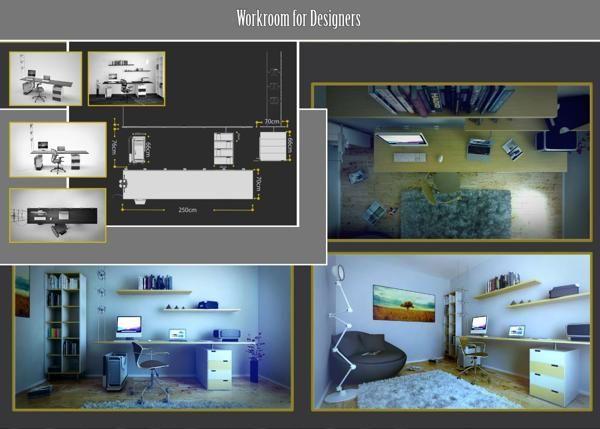 Workroom by Silviu Avram, via Behance