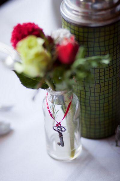 43 best keys to my heart wedding theme images on pinterest skeleton key on wedding flower arrangement junglespirit Choice Image
