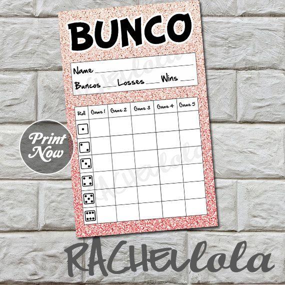 De 10 beste bildene om Bunco på Pinterest - bunco score sheets template