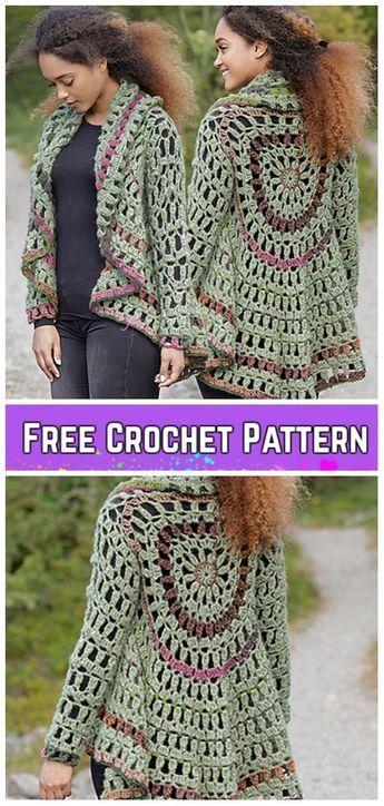 Crochet Forest Cycle Jacket Free Crochet Pattern Crochet Afghans