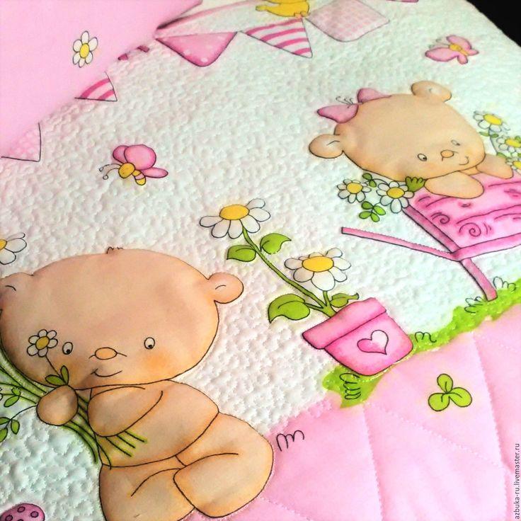 Купить Одеяло для маленькой девочки - одеяло, пэчворк, печворк, стеганое одеяло, постельное белье, комплект