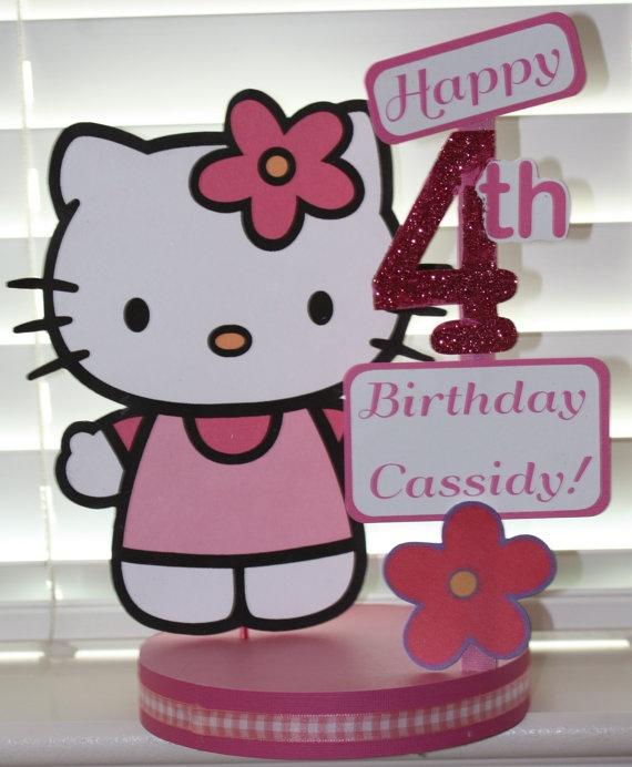 Hello Kitty Birthday Party Custom Centerpiece. $18.00, via Etsy.