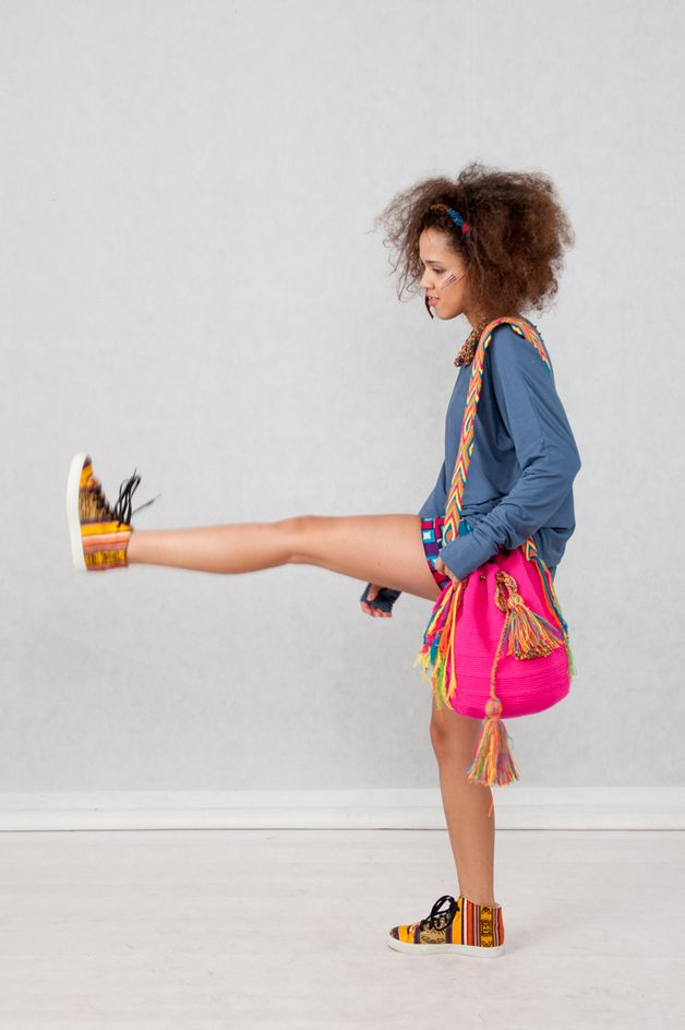 Shoulder Bags for summer season– Wayuu Boho HandBag Rucksack from Colombia, ethnic style, boho outfit, colourful bag – a unique product by KOKOworld via en.dawanda.com