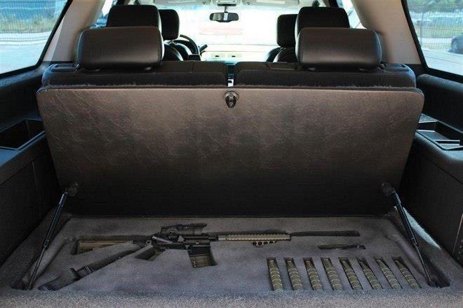 Car gun storage