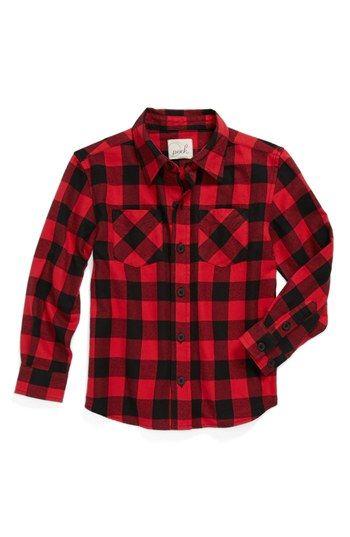 Peek 'Buffalo' Plaid Shirt (Toddler Boys, Little Boys & Big Boys) available at #Nordstrom