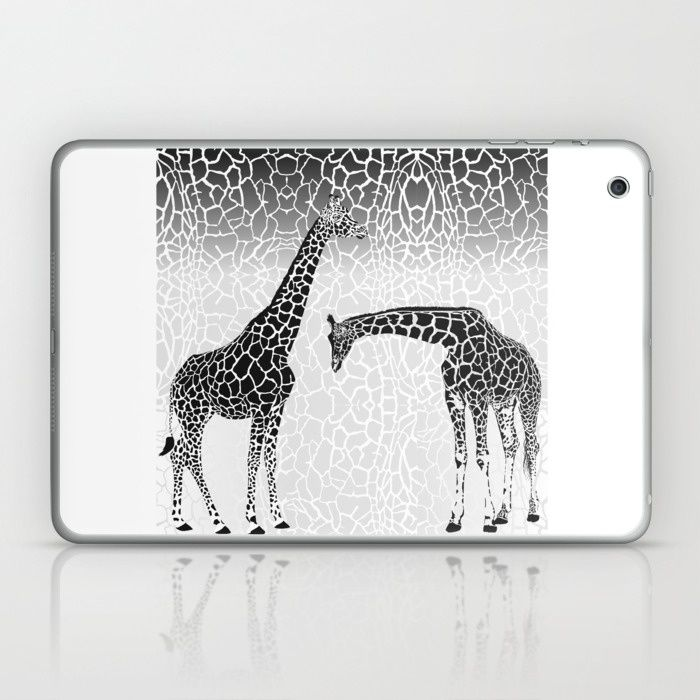 Giraffe patterns for wallpaper Laptop & iPad Skin