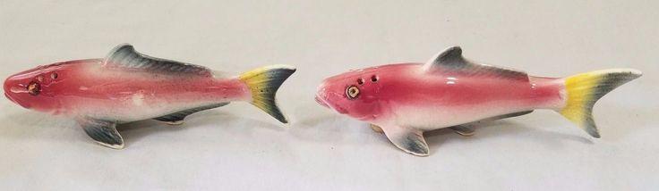 Vintage Pink Fish Salt & Pepper Shaker