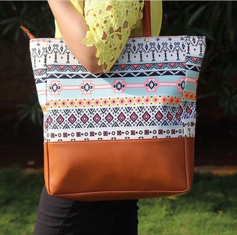 Azure Colourful Tote