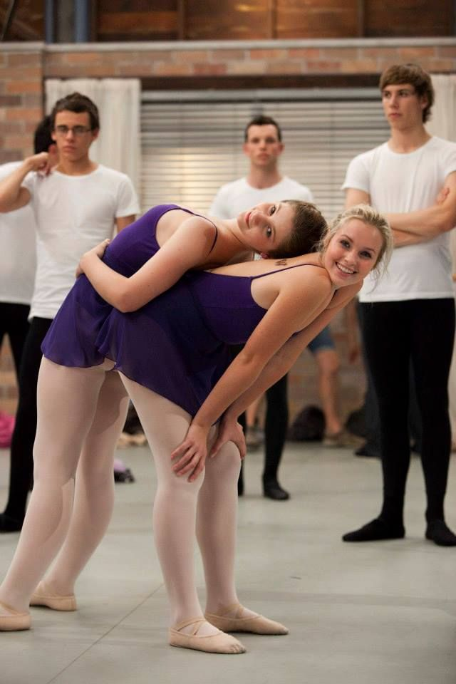 Xenia Goodwin, Alicia Banit and cast on set of the Werner Film Production Dance Academy Series 1.