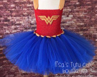 Wonder woman tutu Wonder Woman dress Wonder Woman by LisasTutus