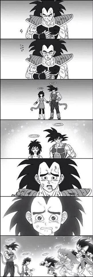 goku and his father meet
