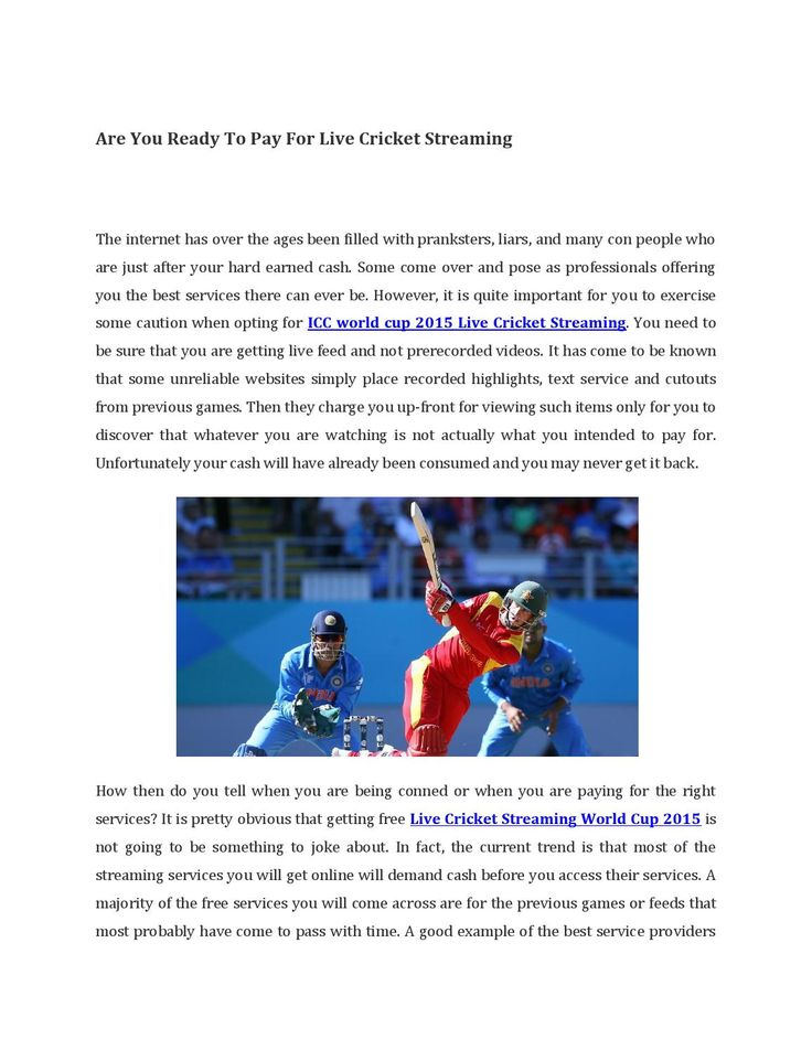 Are you ready to pay for live cricket streaming