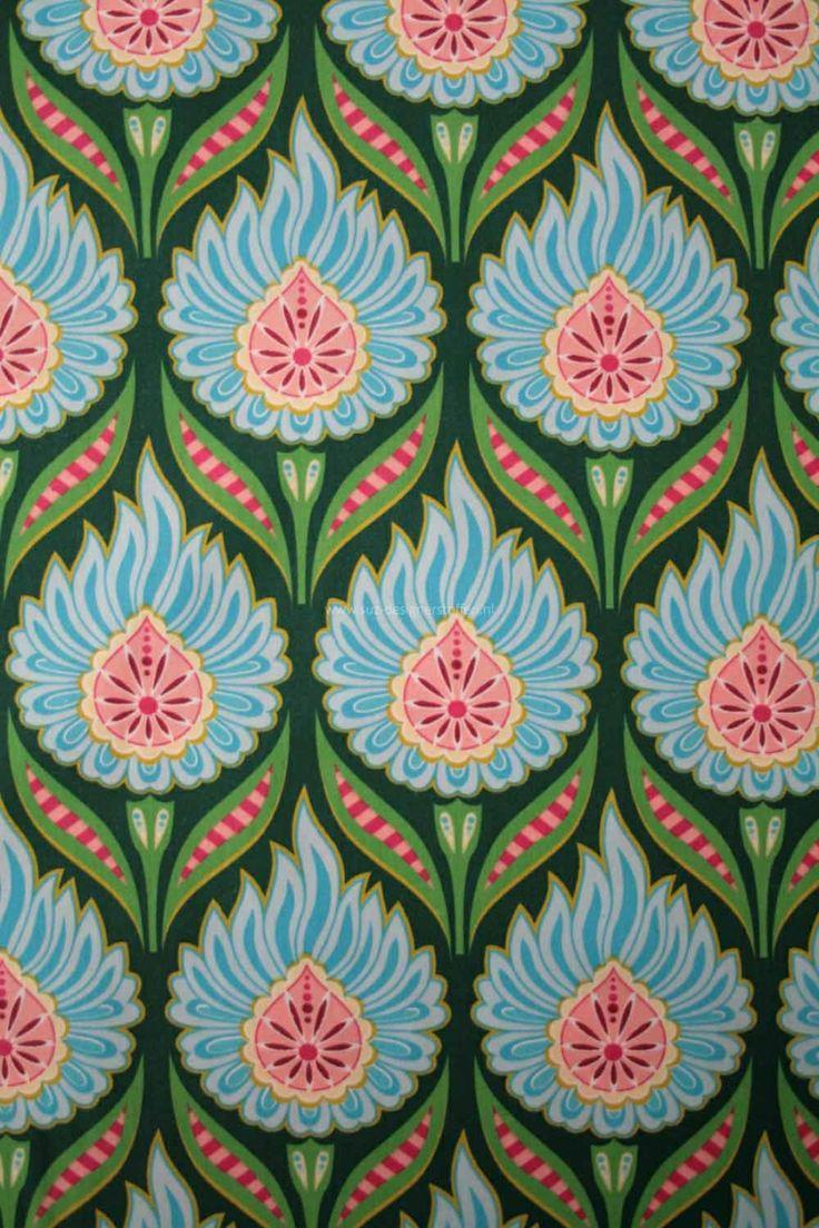 After Rain blauw Materiaal popelin (100% katoen) Kleur(en) blauw, groen, roze, wit, geel Afmetingen 145 cm Designer Hamburger Liebe + Hilco suz-designerstoffen.nl