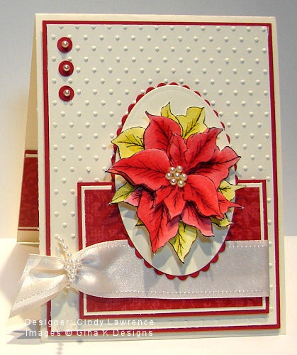 by the talented Cindy LawrenceChristmas Cards, Talent Cindy, Cards Ideas, Cards Stamps, Cards Christmas, Pretty Poinsettia, Poinsettia Cards, Cindy Lawrence, Cards Lov