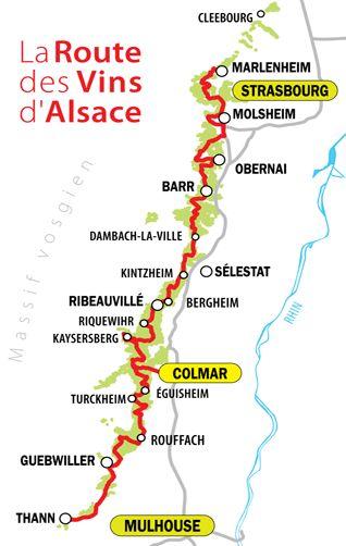 Route des Vins d' Alsace, een prachtige wijnroute langs idyllische dorpen en uitgestrekte wijngaarden.
