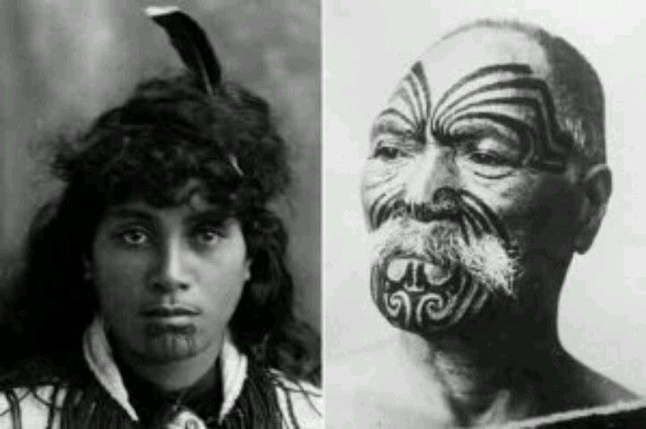 """ The male facial tattoo is generally divided into eight sections:  1. Uirere (hapu rank) – the eyes and nose area  2. Taitoto (birth status) – the jaw  3. Ngakaipikirau (rank) – the center forehead area  4. Raurau (signature) – the area under the nose  5. Wairua (mana) – the chin  6. Ngunga (position) – around the brows  7. Taiohou (work) – the cheek area  8. Uma (first or second marriage) – the temples """