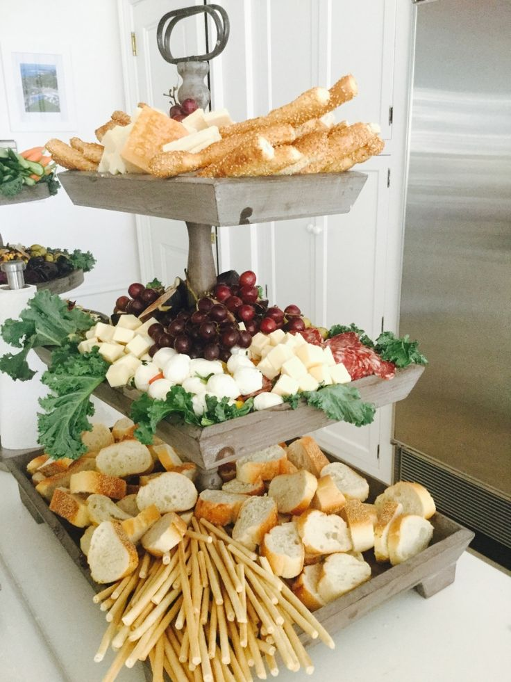 The anatomy of a tiered party platter.... - The Enchanted Home                                                                                                                                                                                 More