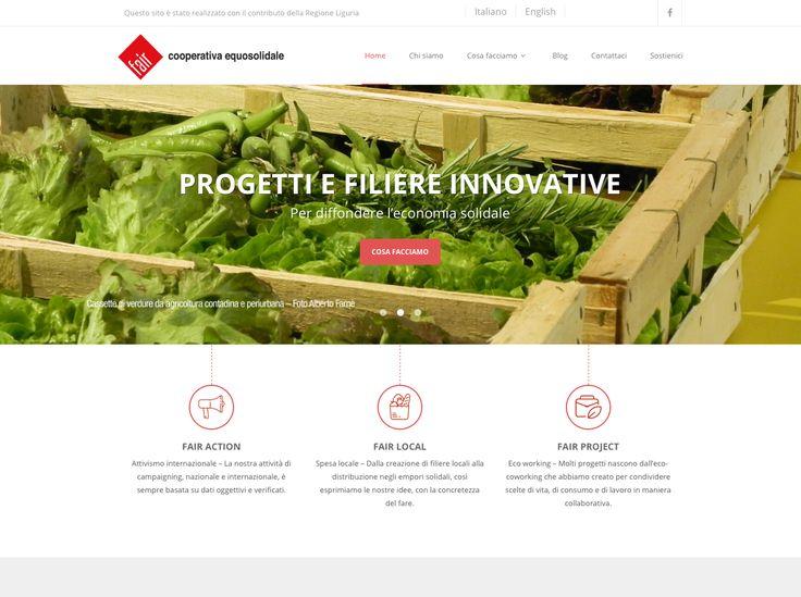 Fair Cooperativa Sociale, design new websita