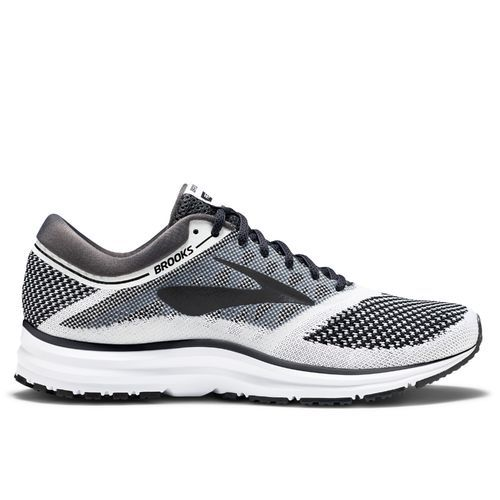 Brooks Men's Revel Running Shoes (White/Black/Grey, Size 11.5) - Men's Running Shoes at Academy Sports