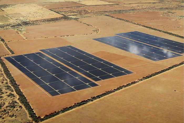 Work has begun on the largest ever solar plant to be built in Australia.