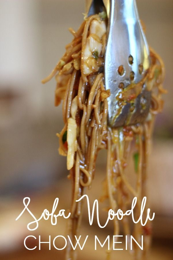 Skip the takeout and make this delicious Soba Noodle Chow Mein at home.