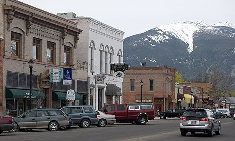 Hamilton, MT...looks of an old town. Many of the buildings in my town are on the same style, and are now being renovated.