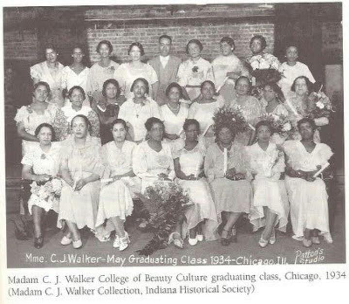 Madam C J Walker first beauty school graduating class 1934