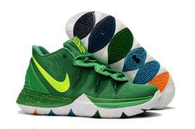 e42fa85b467e Nike Kyrie 5 Green Volt White Men s Basketball Shoes Irving Sneakers ...