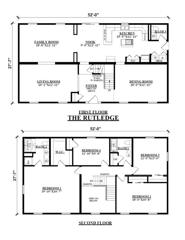 Image Result For Floor Plan Two Story Rectangular House Square House Plans Basement House