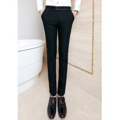 Style: Fashion  Material: Polyester, Cotton  Fit Type: Regular  Waist Type: Mid  Closure Type: Zipper Fly  Front Style: Flat  With Belt: No  Weight: 0.520KG  Pant Length: Long Pants  Pant Style: Straight  Package Contents: 1 x Pants  Size	Waist	Length 28	72	98 29	74	99 30	76	100 3...
