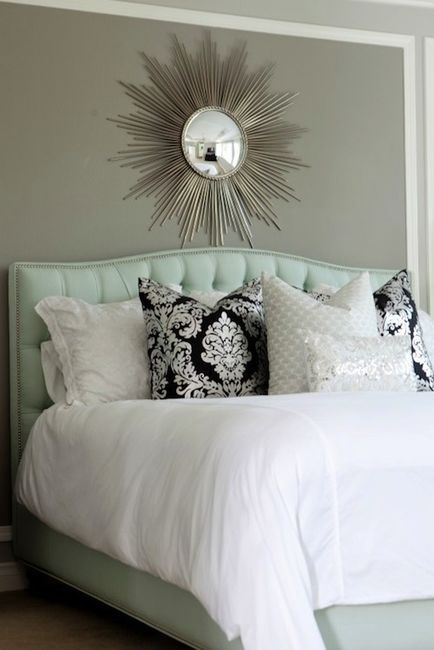 Bedrooms Turquoise Blue Leather Headboard Bed Nailhead