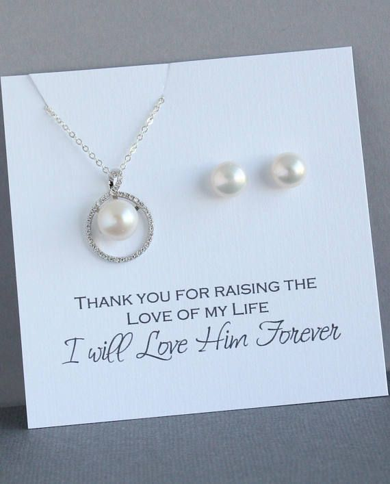 Mother of the Groom Gift from Bride Sterling Silver Pear