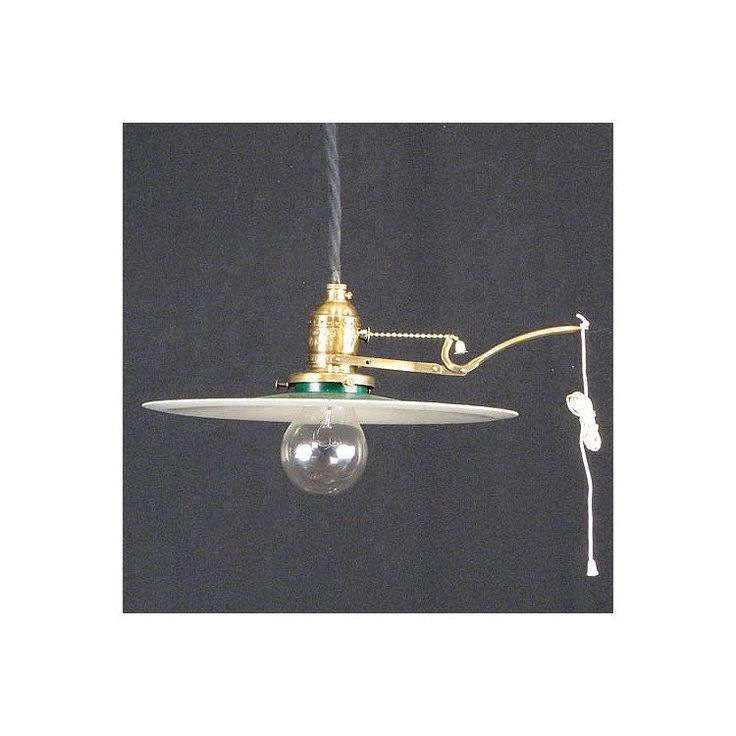 Early Electric Shop Light with Hubble Arm