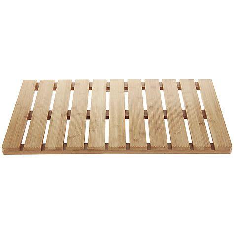 Buy John Lewis Rubberised Bamboo Bathroom Duckboard, Natural Online at johnlewis.com