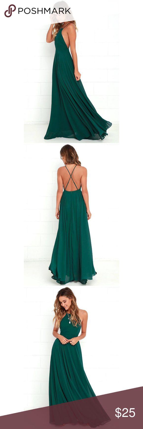 LuLus maxi dress Green maxi dress, never before worn Lulu's Dresses Maxi