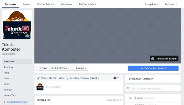 Teknik Komputer: Cara Membuat Halaman Facebook atau Fanspage Facebo...