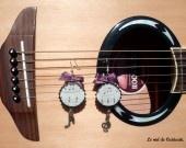 """Boucles d'oreille capsule ♪ """"La musique dans la peau"""" ♫ : Boucles d'oreille par le-nid-de-cuiiicuiii sur ALittleMarket"""