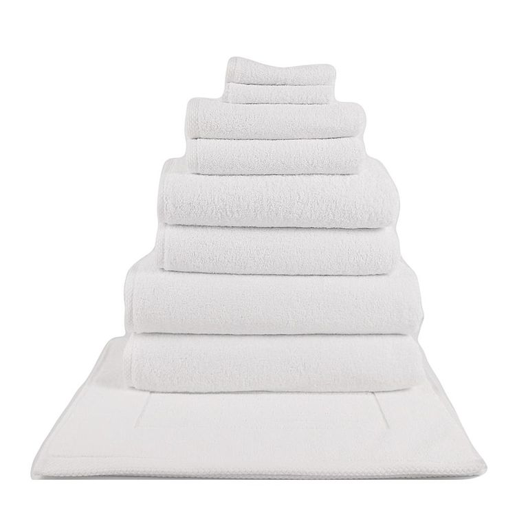 Concierge Collection 100% Turkish Cotton 10-piece Hotel Collection Towel Set - White