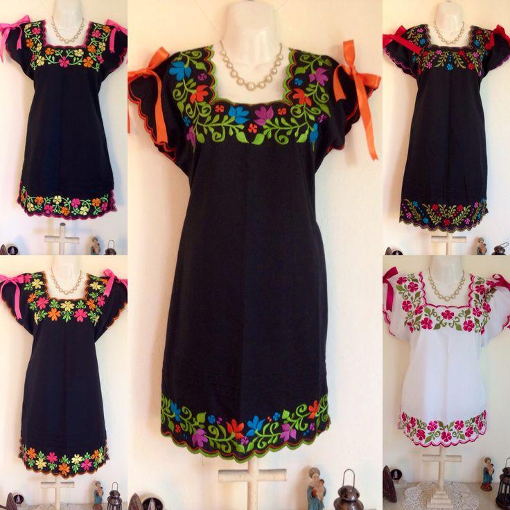 Vestidos bordados yucatecos. Itzamara fanpage