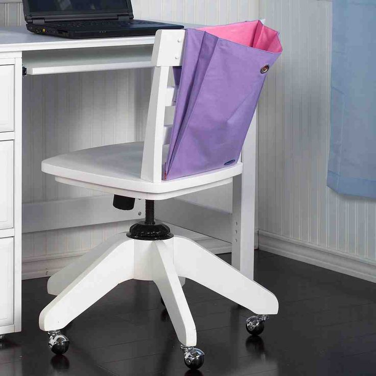 kids white desk chair