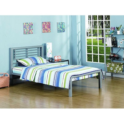 Details about your zone platform bed frame metal kids teen for Furniture zone beds