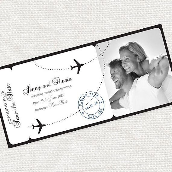printable save the date boarding pass photo card digital file airline ticket wedding announcement engagement plane - come fly with me design