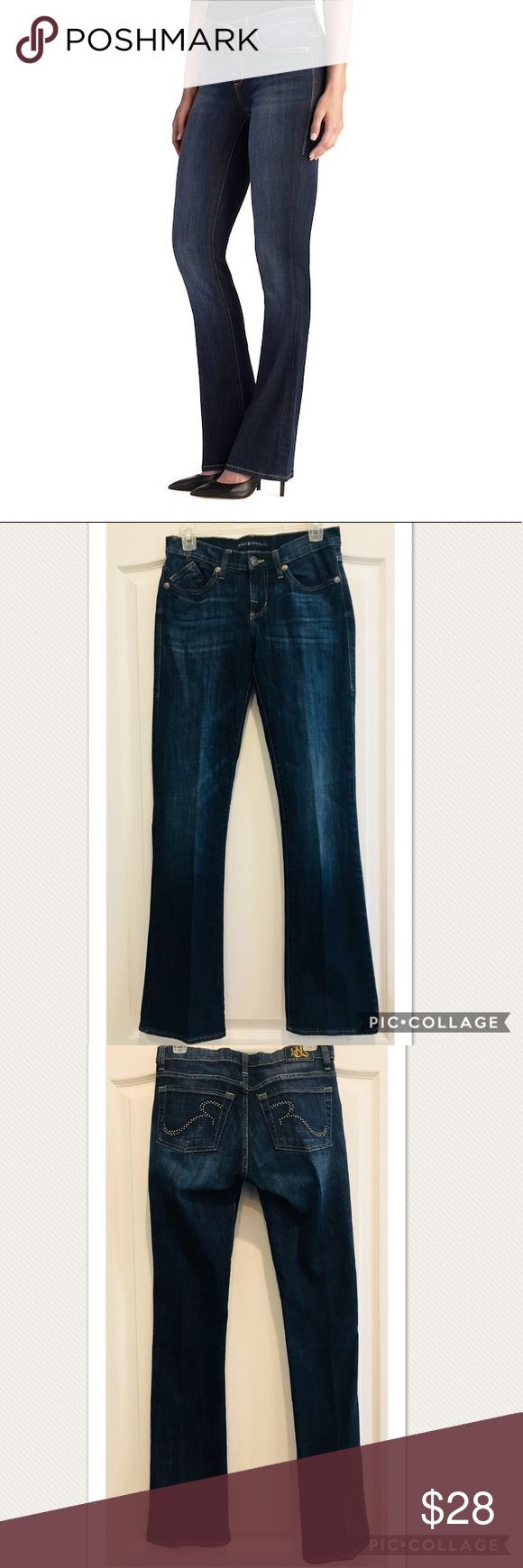 """Rock & Republic """"Kasandra"""" Boot Cut Jeans (size 6) Excellent, Like NEW Condition!!!  """"Kasandra"""" Boot Cut Jeans from Rock & Republic. Classic logo pocket in medium blue wash.  ▫️Faded Details ▫️5 pockets, Zipper fly ▫️Stretchy denim construction ▫️Midrise sits above hip ▫️Bootcut flares slightly at knee   **size 8 also available**  98% cotton, 2% spandex. Machine wash cold.   Measurements are available request.   Smoke-free home. Rock & Republic Jeans Boot Cut"""