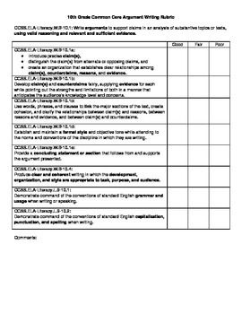 Art Rubrics Elementary Grade Level   PA WRITING RUBRIC