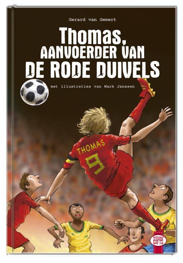 Speel zelf de hoofdrol in dit spannende WK voetbalboek Aanvoerder van De Rode Duivels #kinderboek met naam www.biblikotheeklangedijk.nl